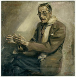 Painting: Kurt Schwitters, Portrait of Rudolf Olden