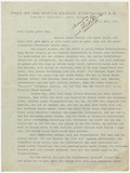 Letter: Martin Wagner to Ernst May 1937
