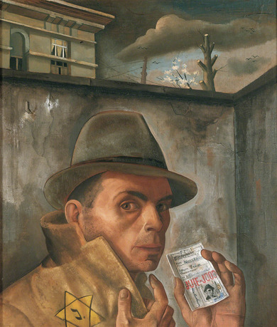 Painting: Felix Nussbaum, Self-Portrait with Jewish Identity Card