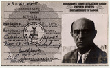 Immigration Card: Arnold Schönberg