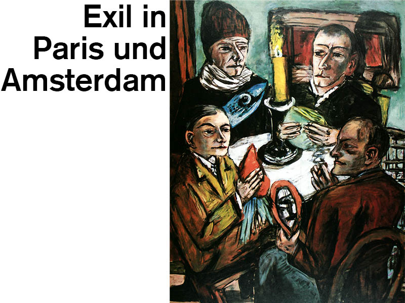 Exil in Amsterdam und Paris