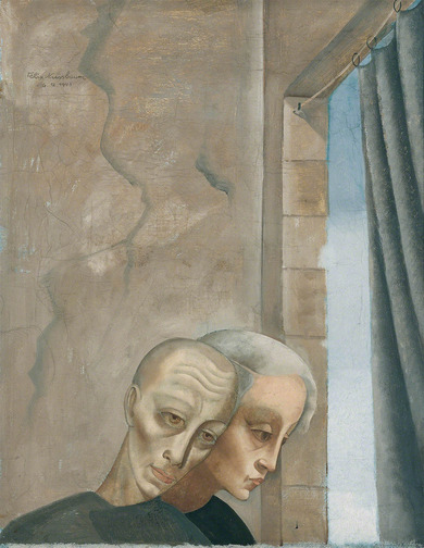 Painting: Felix Nussbaum, Grieving couple