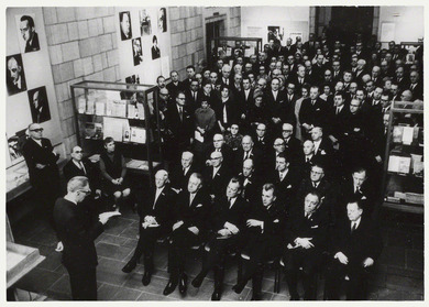 Opening of the exhibition Exil-Literatur, 1968