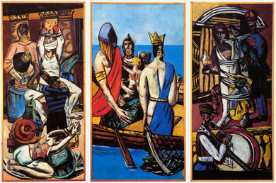 Painting: Max Beckmann, Departure