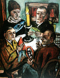 Painting: Max Beckmann, Les Artistes with Vegetables