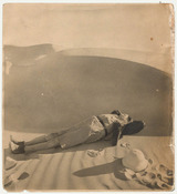 Photograph: Hans Casparius, Richard A. Bermann in the desert