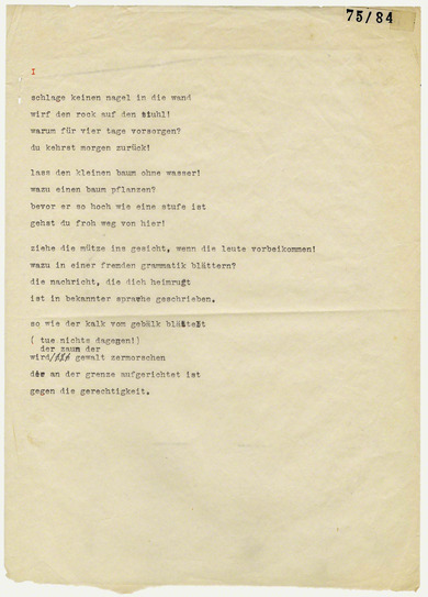 Arts In Exile Objects Bertolt Brecht Thoughts About The
