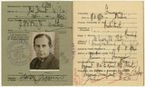 Document: Walter Gropius, certificate of registration