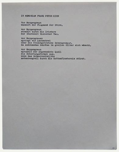 Arts In Exile Objects Joseph Hahn In Memoriam Franz