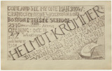 Etching: Helmut Krommer, One Man Show