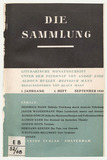 Front cover: Die Sammlung, Number 1