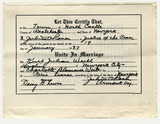 Marriage certificate: Kurt Weill and Lotte Lenya