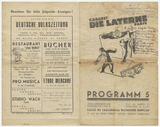 "Advertisement and programme: ""Die Laterne"", Paris"
