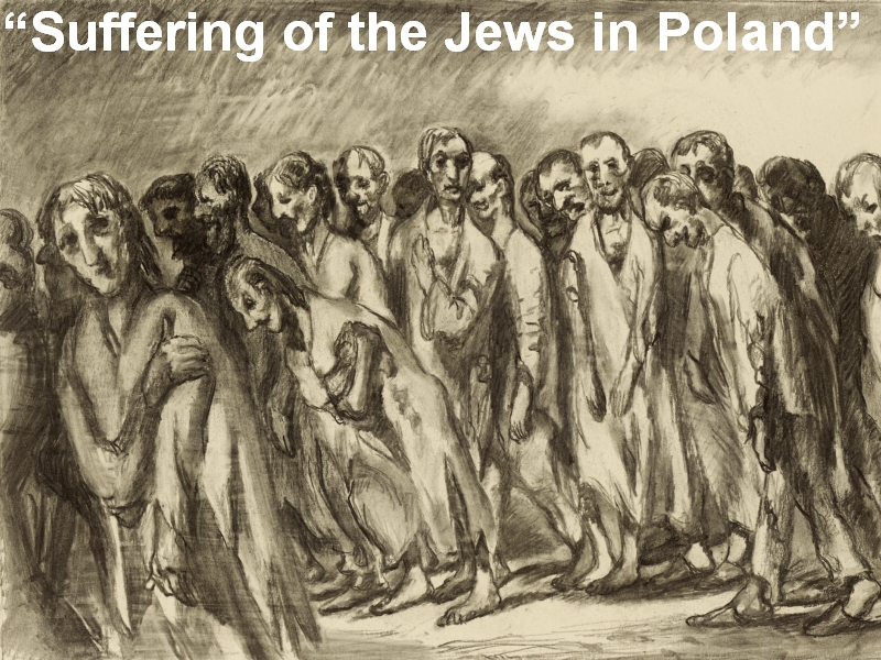"""Suffering of the Jews in Poland"""