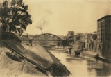 Ludwig Meidner, King's bridge in Breslau, 1904