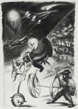 Ludwig Meidner, Man on a Tricycle, 1937/38
