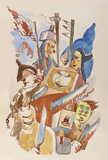Ludwig Meidner, Martial Masked Procession, 1941