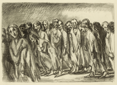Ludwig Meidner, Trek of People, 1942-45