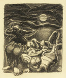 Ludwig Meidner, Night with Full Moon, 1939/40