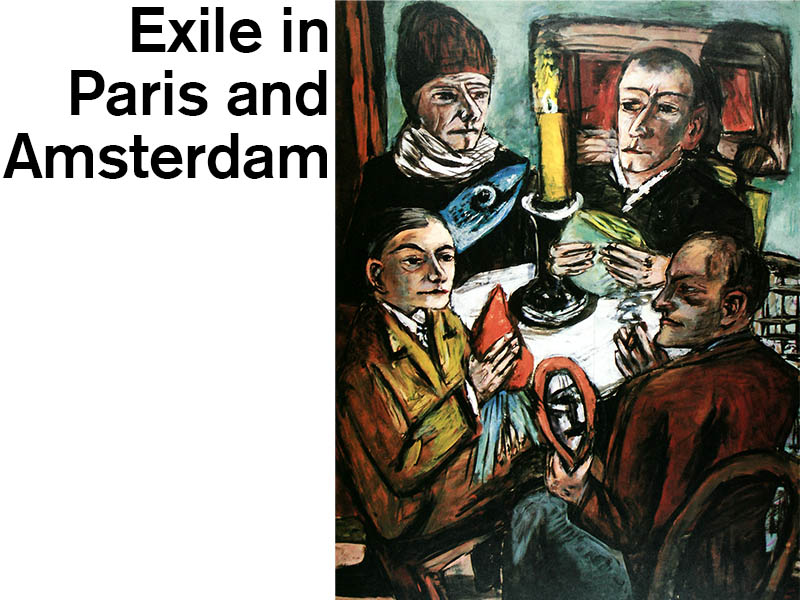 Exile in Paris and Amsterdam