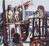 Painting: Max Beckmann, Abtransport der Sphinxe