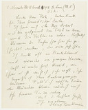 Letter: Max Beckmann to Franz Roh