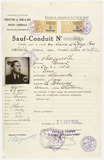 Safe conduct pass: Ernest Morgenroth